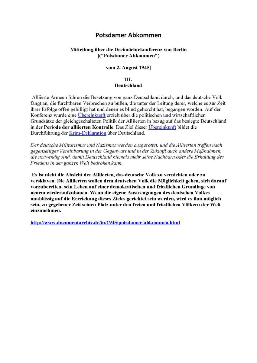 staatenlos.info - Comedian - Alliierte Rechtsgrundlagen - Verträge
