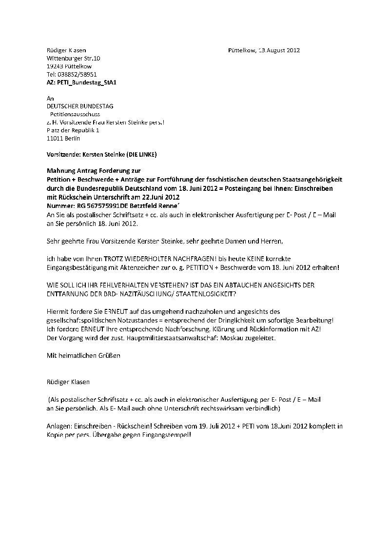 Petitionen Bundestag